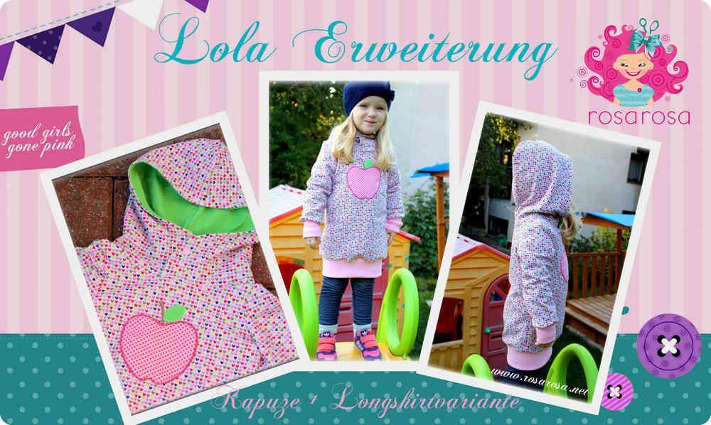 Freebook Lola Erweiterung ♥ Kapuze + Longshirt