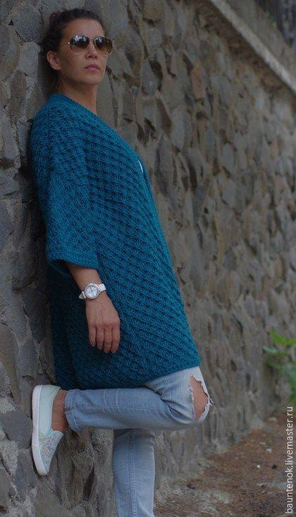 c8e84e687593 Кофты и свитера ручной работы. Вязаный кардиган   Бискайский залив