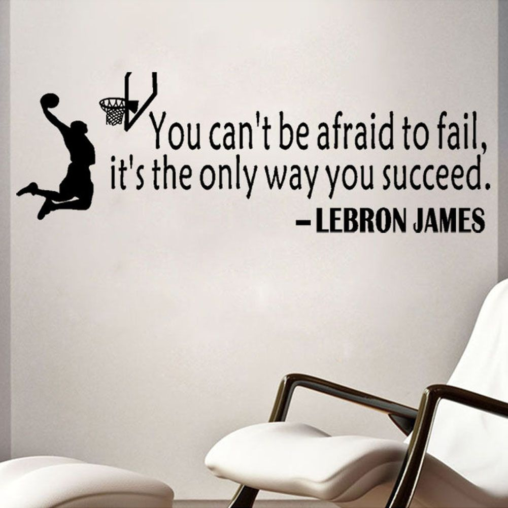 Champion Lebron James Quots Saying Wall Vinyl Decal Home Decor Wall ...