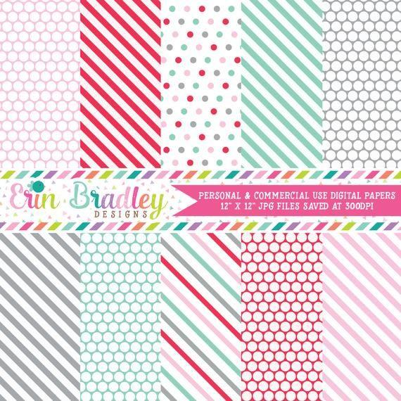 Packung mit bedruckbarem Papier für gewerbliche Nutzung in Pink Red Aqua Blue & Grey   – Products