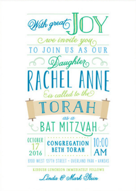 Celebrate your childs Bat Mitzvah or Bar Mitzvah with Minteds