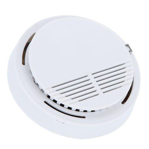 50 pçs/lote Standalone Fotoelétrico Alarme de Fumo Detector de Fumaça de Incêndio Sensor Sistema de Segurança Home para Cozinha de Casa