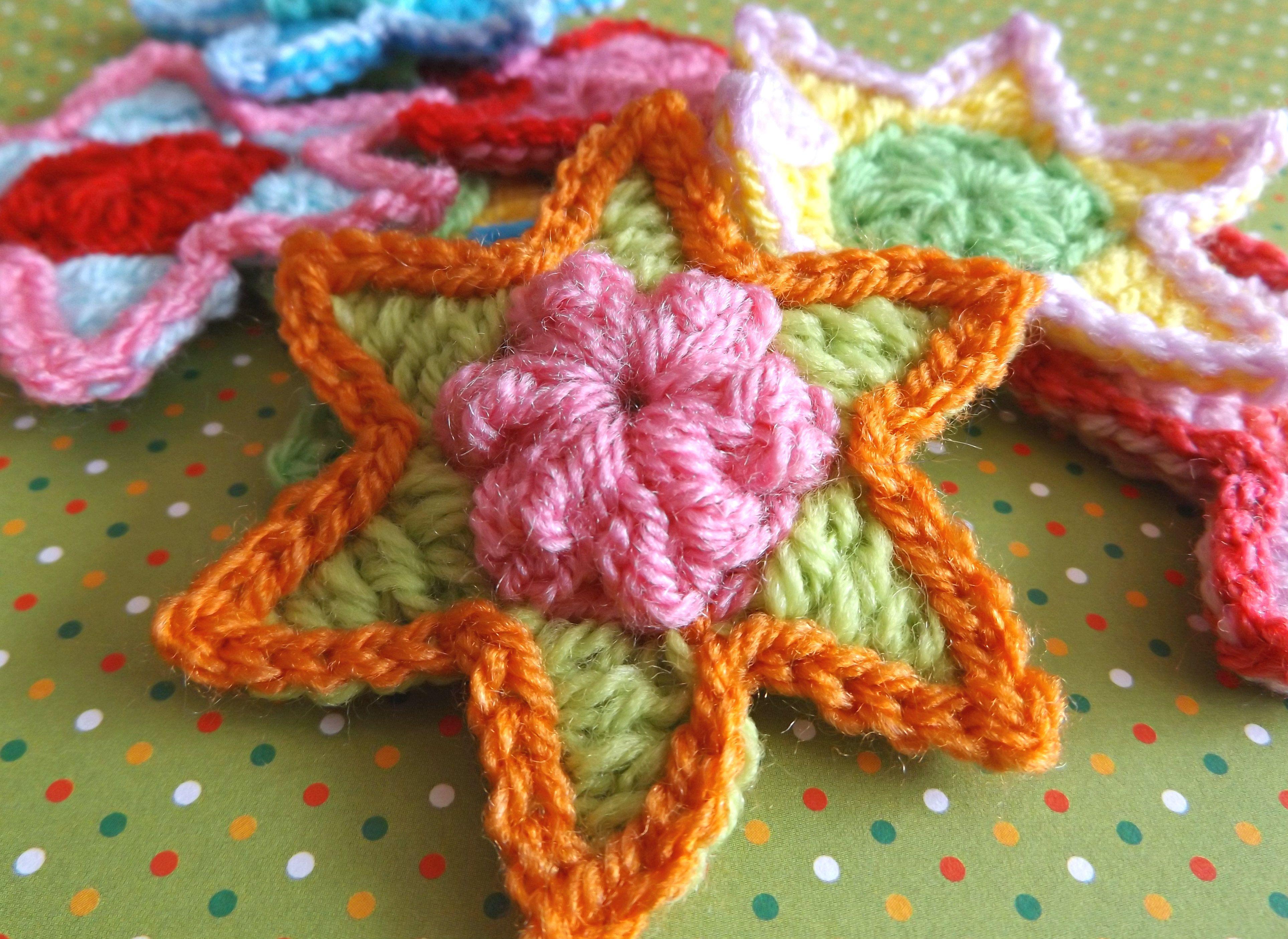 Crochet popcorn stars **FREE PATTERN** | crochet appliques ...