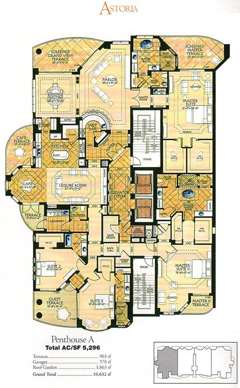 Image result for penthouse floor plan with pool | Home--Floorplans ...