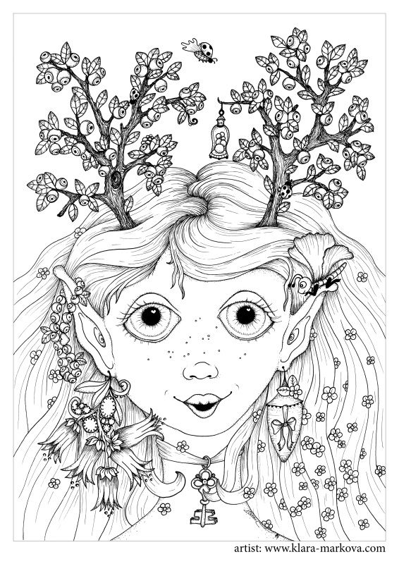 Klara Markova Free Coloring Book Art Cool Coloring Pages Cute Coloring Pages