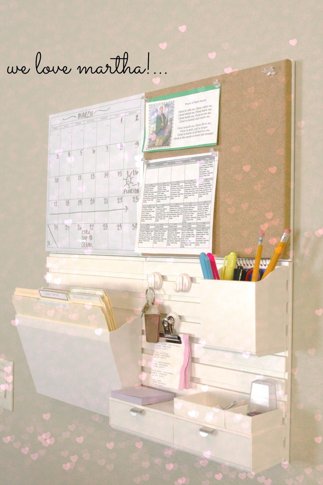 Martha Stewart Wall Manager Review A Giveaway Home Office Organization Room Organization Organization Bedroom