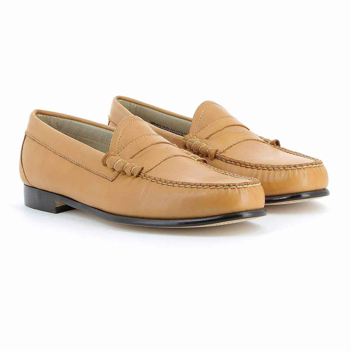 c70df353380 Weejuns Larson Palm Springs Tan Leather Black Polish