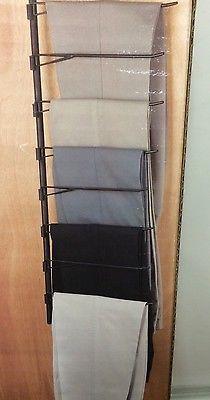 Rubbermaid Deluxe Over The Door Closet Bar Trouser Rack Slacks