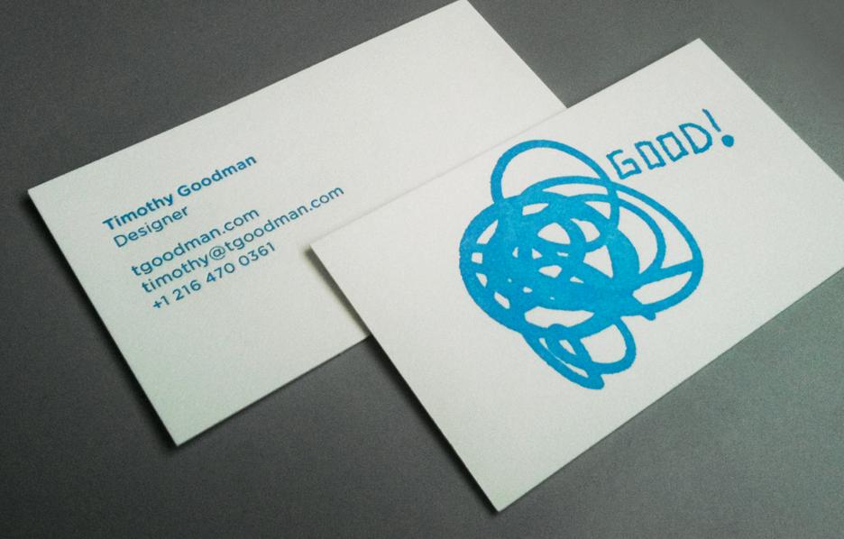 Timothy Goodman Business Cards