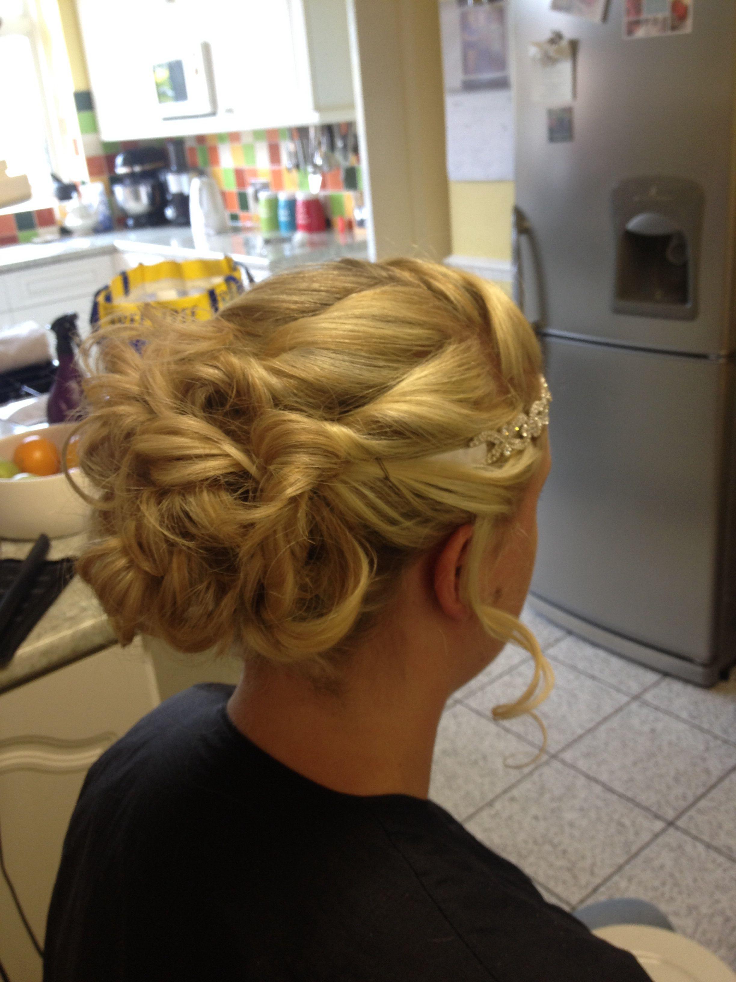 My wedding hair trial x my wedding day x pinterest weddings