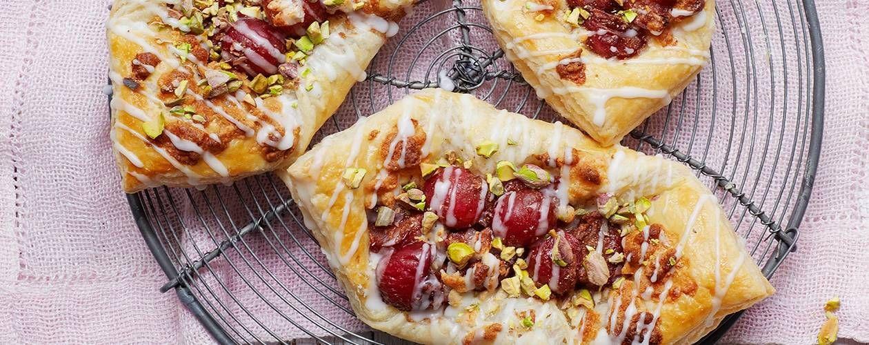 Cherry Pistachio Pastries Recipe Food Recipes Asda Recipes