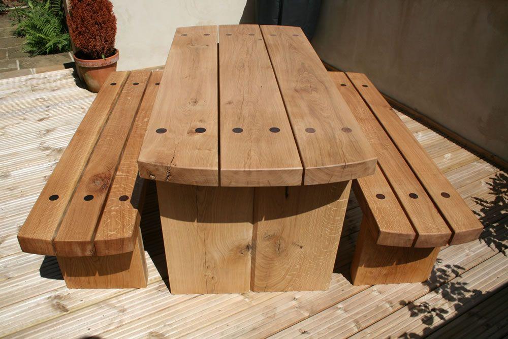 Handmade Garden Furniture: Chatsworth Oak Garden Furniture Set ...