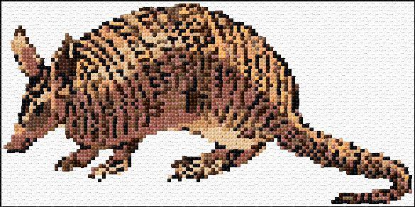 armadillo, free cross stitch pattern from cross-stitch-pattern
