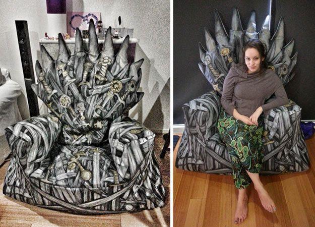 Diy Iron Throne Bean Bag Game Of Thrones Game Of