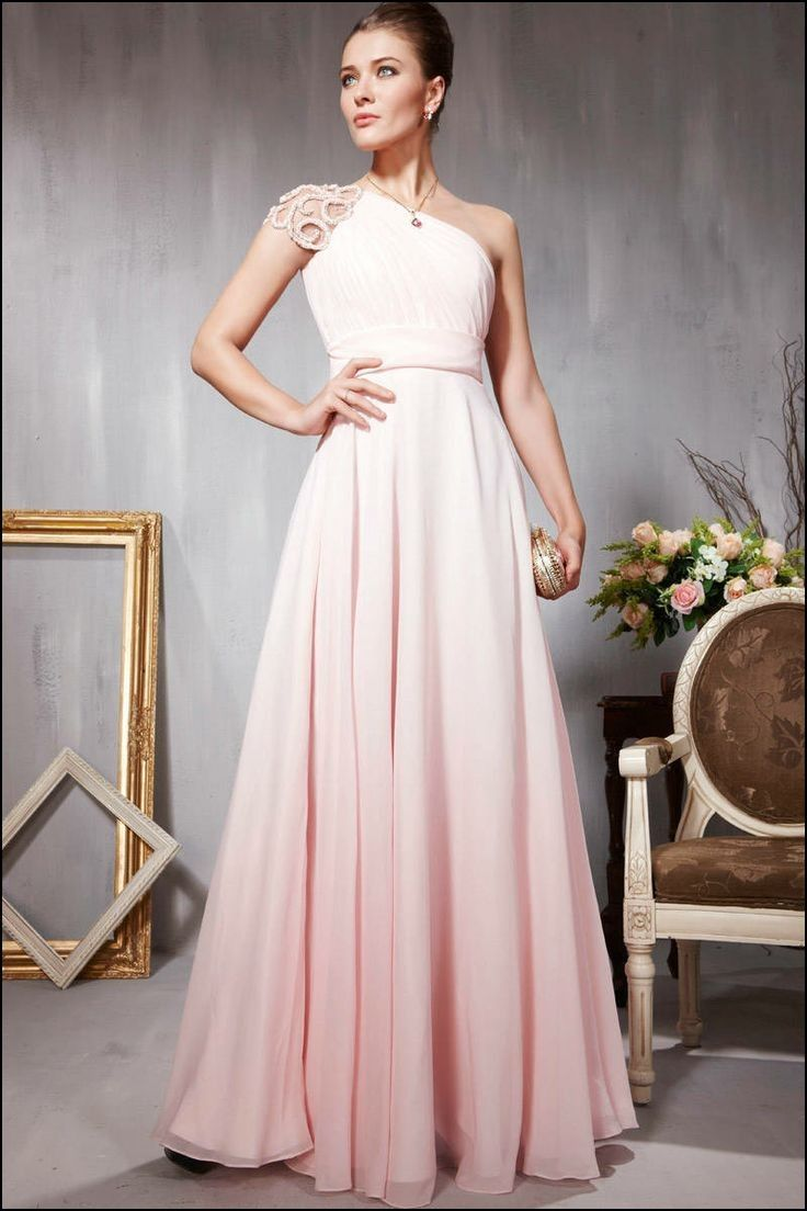 Exelent Pale Pink Full Length Chiffon Gown Photo - Best Evening Gown ...