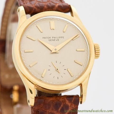 0c2f74cc0045 1955 Vintage Patek Philippe Calatrava Ref. 96 18k Yellow Gold Watch ...