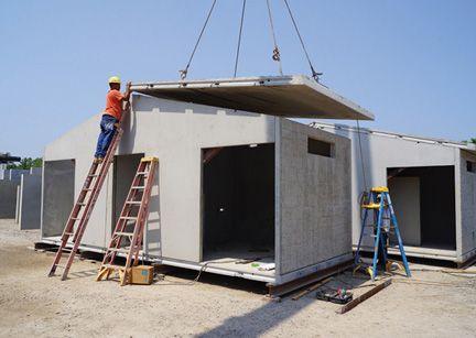 Construcci n de una peque a casa con concreto premoldeado materiales de construcci n - Construccion de casa prefabricadas ...
