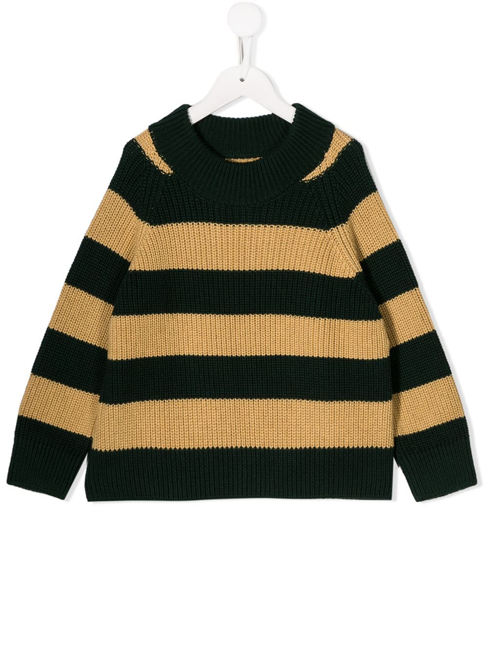 Tiny Cottons striped chunky knit jumper - Green
