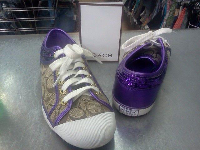 Purple Coach Shoes   Me too shoes