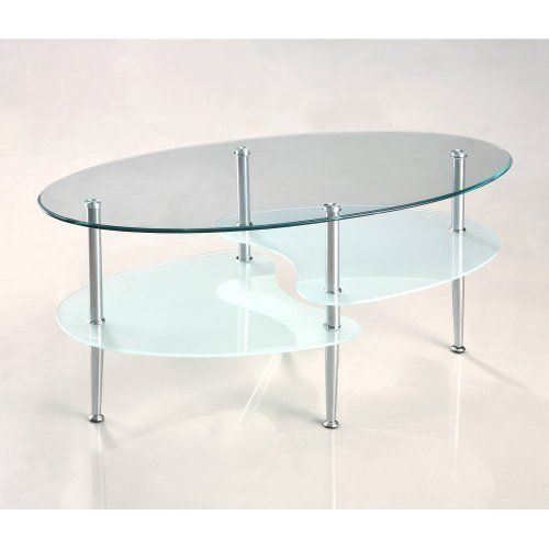 38 Oval Multilevel Glass Coffee Table By Home Accent Furnishings 84 99 Sparkling