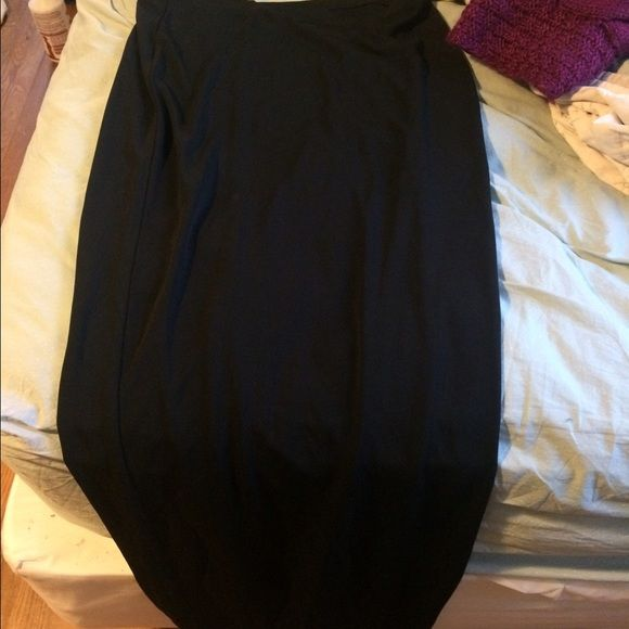 Black maxi skirt (NO TRADES) this is for someone who has long legs like me! It's a size medium tall  - price is final Eddie Bauer Skirts Maxi