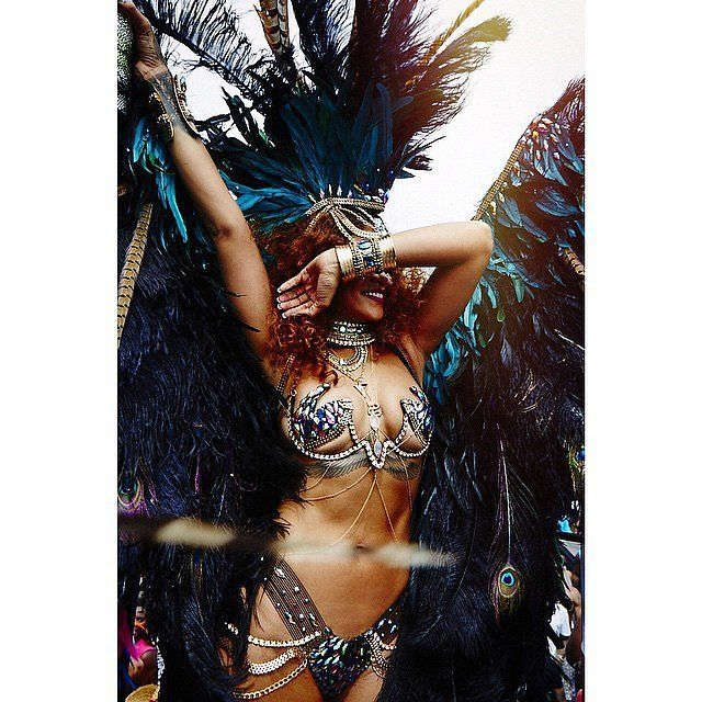 Rihanna Completely Steals the Show at Barbados's Carnival Festival: Rihanna definitely knows how to make a splash whenever she's back home in the Caribbean.