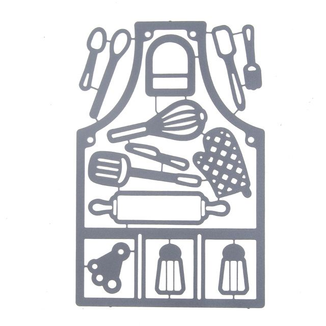 Hot Kitchen Tool Set Metal Cutting Dies For Scrapbooking Diy Carbon