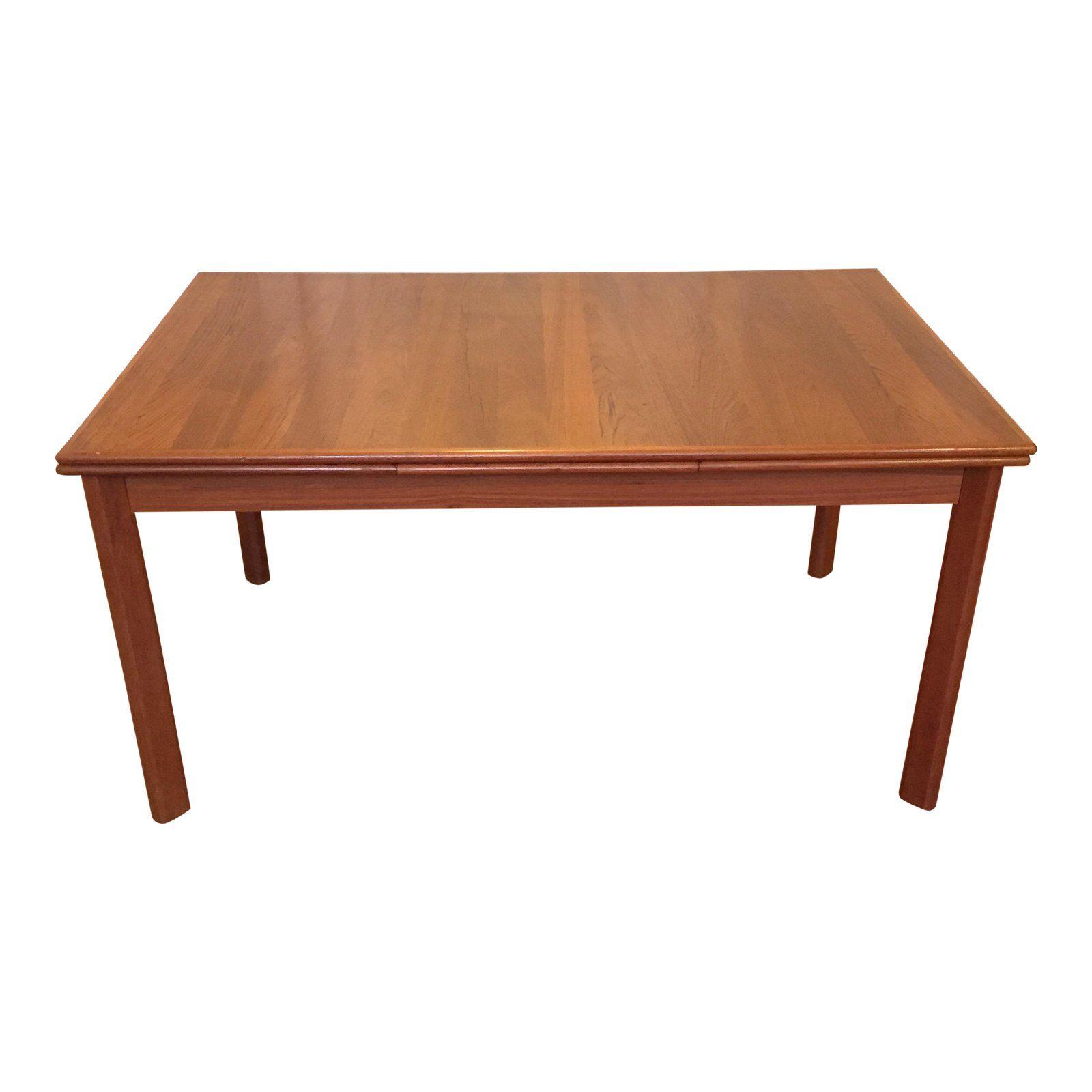 1960s Danish Modern Brdr Furbo Teak Dining Table Dining Table
