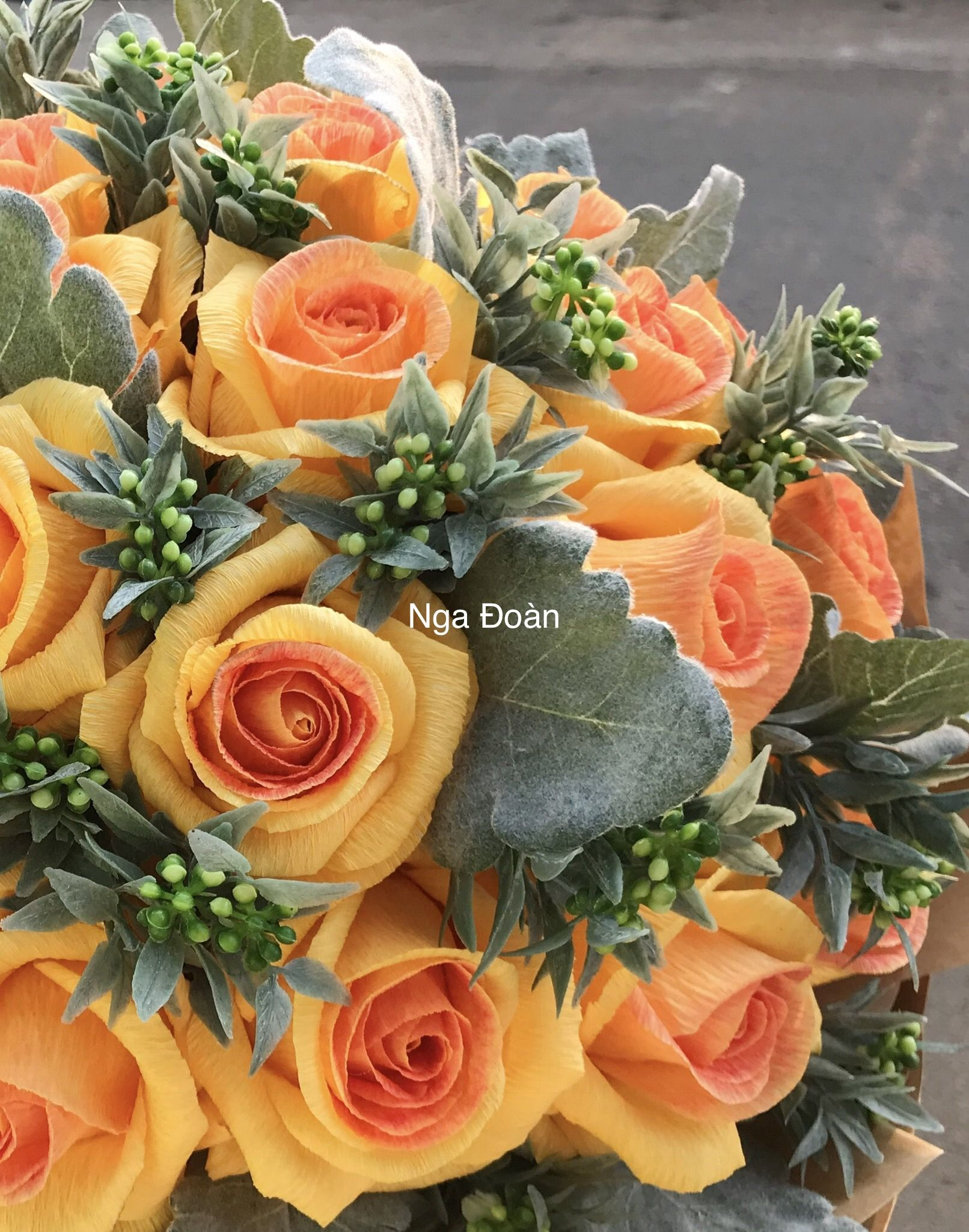Yellow rose from crepe paper crepe paper flowers pinterest