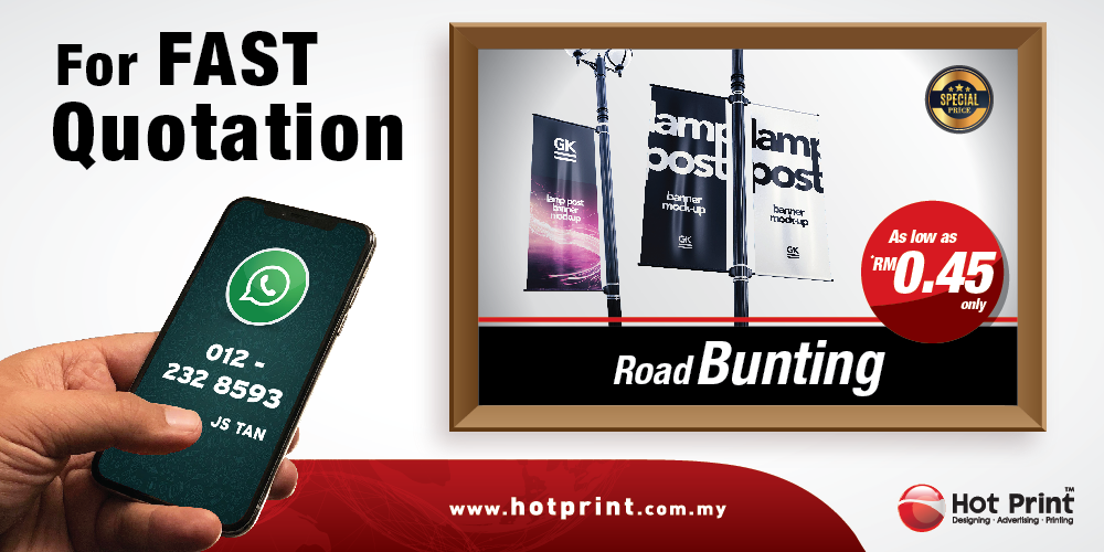 Hot print design advertising printing prices printing services information printing road bunting installation apply license in lowest price in penang kedah reheart Choice Image