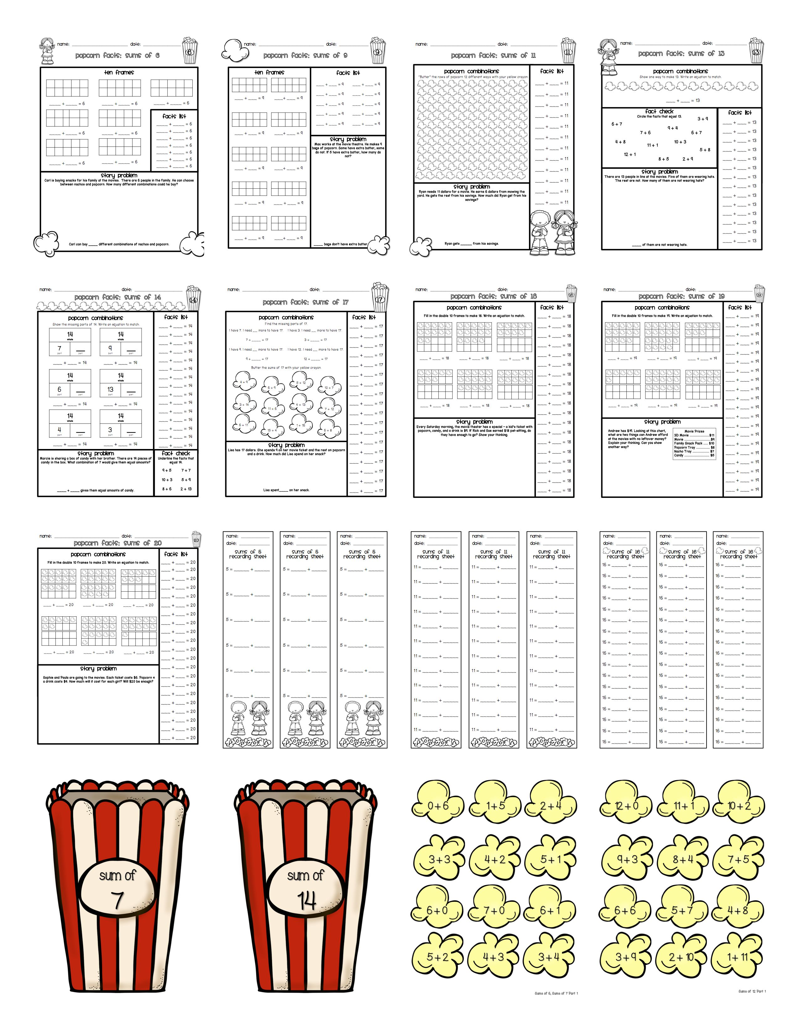 Ways To Make A Number Composing Numbers Activities