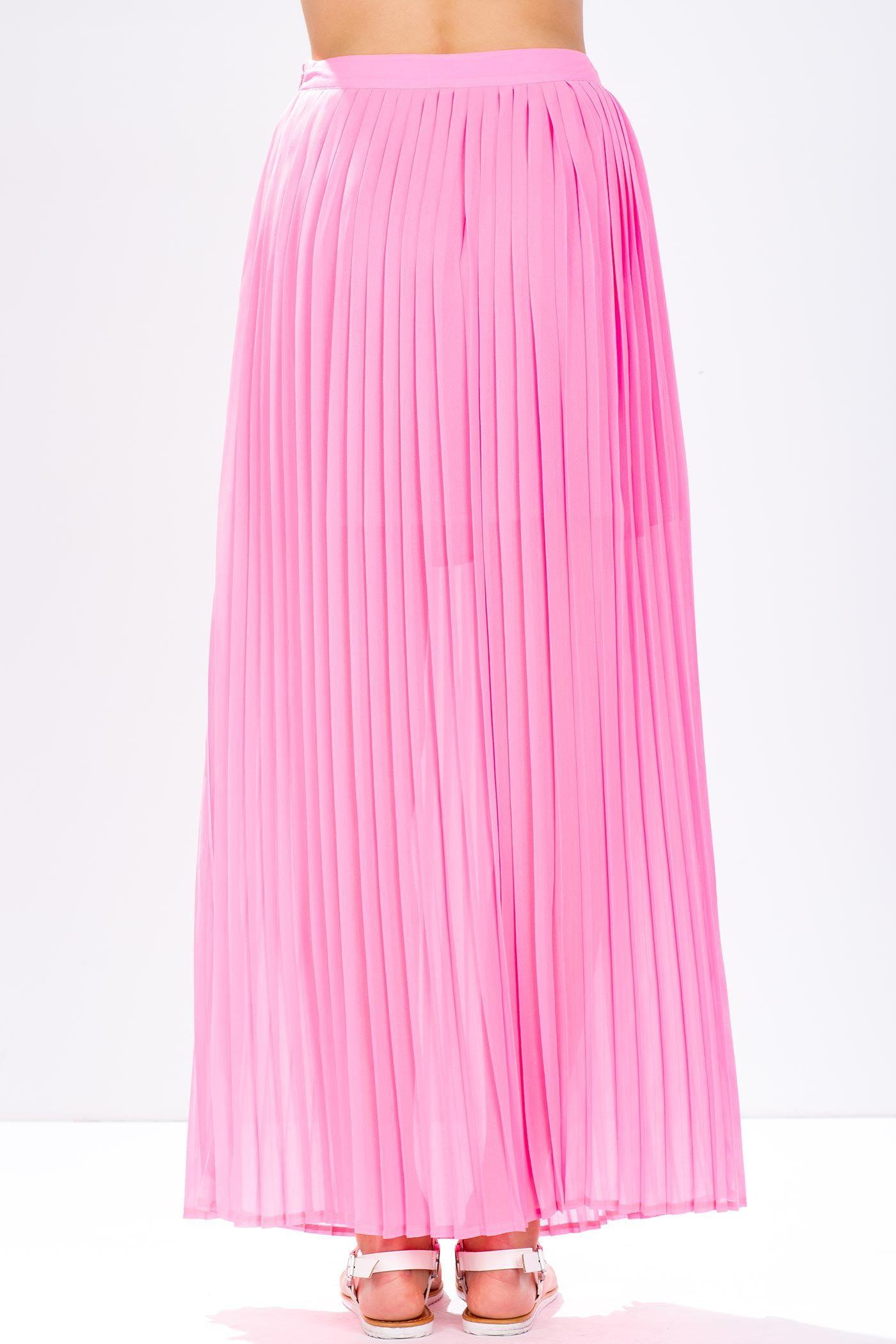 Плиссированная юбка Размеры: M, L Цвет: лимонный, розовый, коралловый Цена: 677 руб.  #одежда #женщинам #юбки #коопт