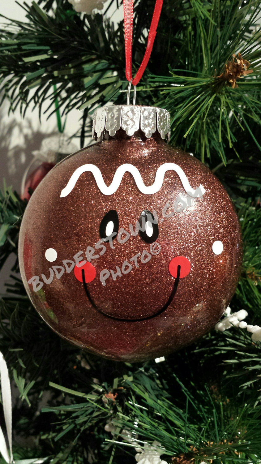 Gingerbread Boy Personalized Glitter Christmas Ornaments Free Shipping Diy Christmas Ornaments Christmas Crafts Diy Christmas Ornaments