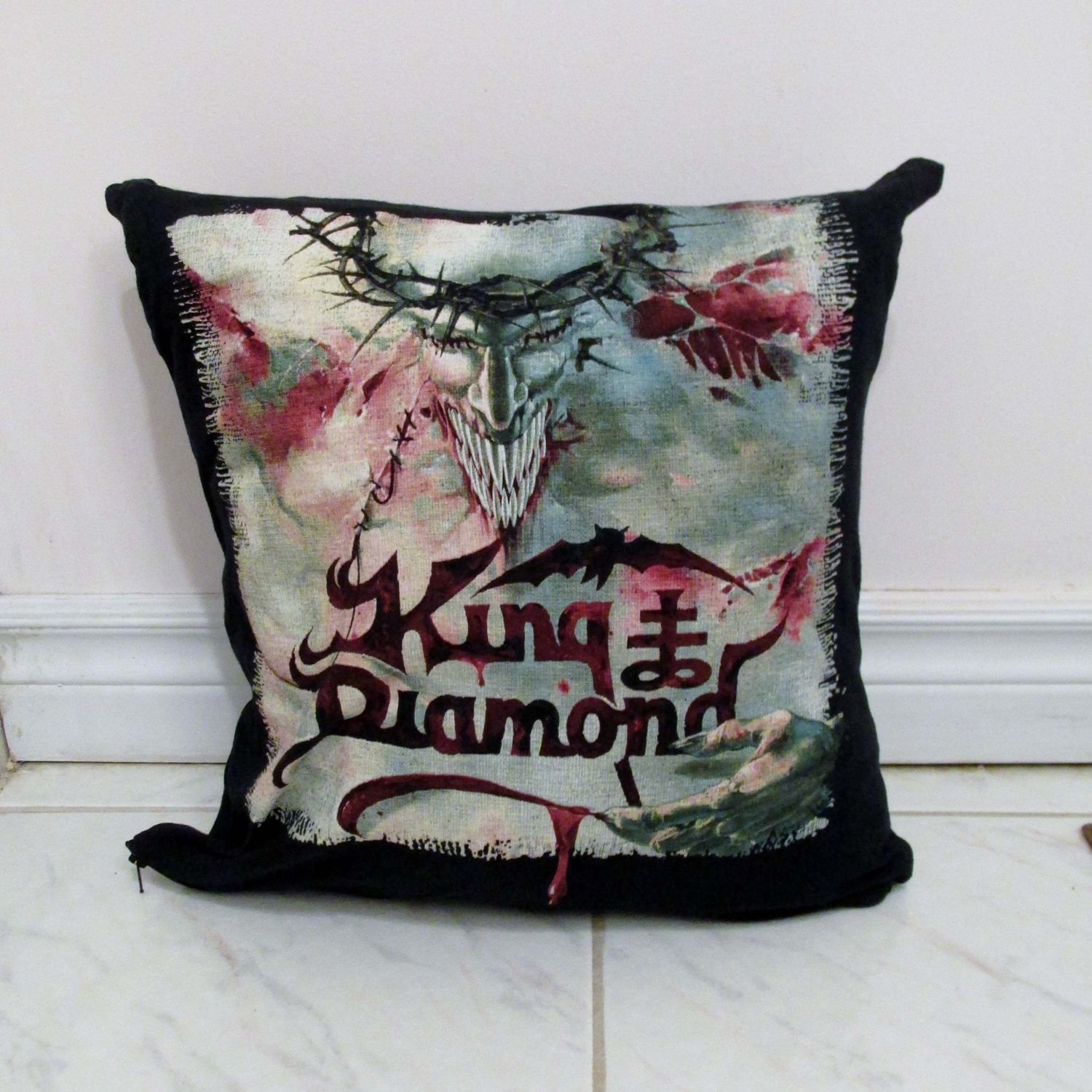 King Diamond Pillow Diy Heavy Metal Decor 1 Cover Only Insert Available