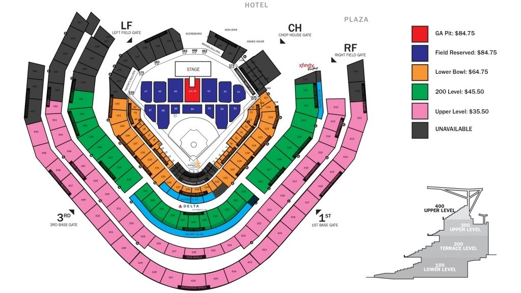 Jason Aldean Atlanta Braves With Regard To Atlanta Braves Stadium Seating Chart Atlantabravesbaseballstadiumseatingchart Atlantabra Atlanta Braves Stadium Suntrust Park Atlanta Braves