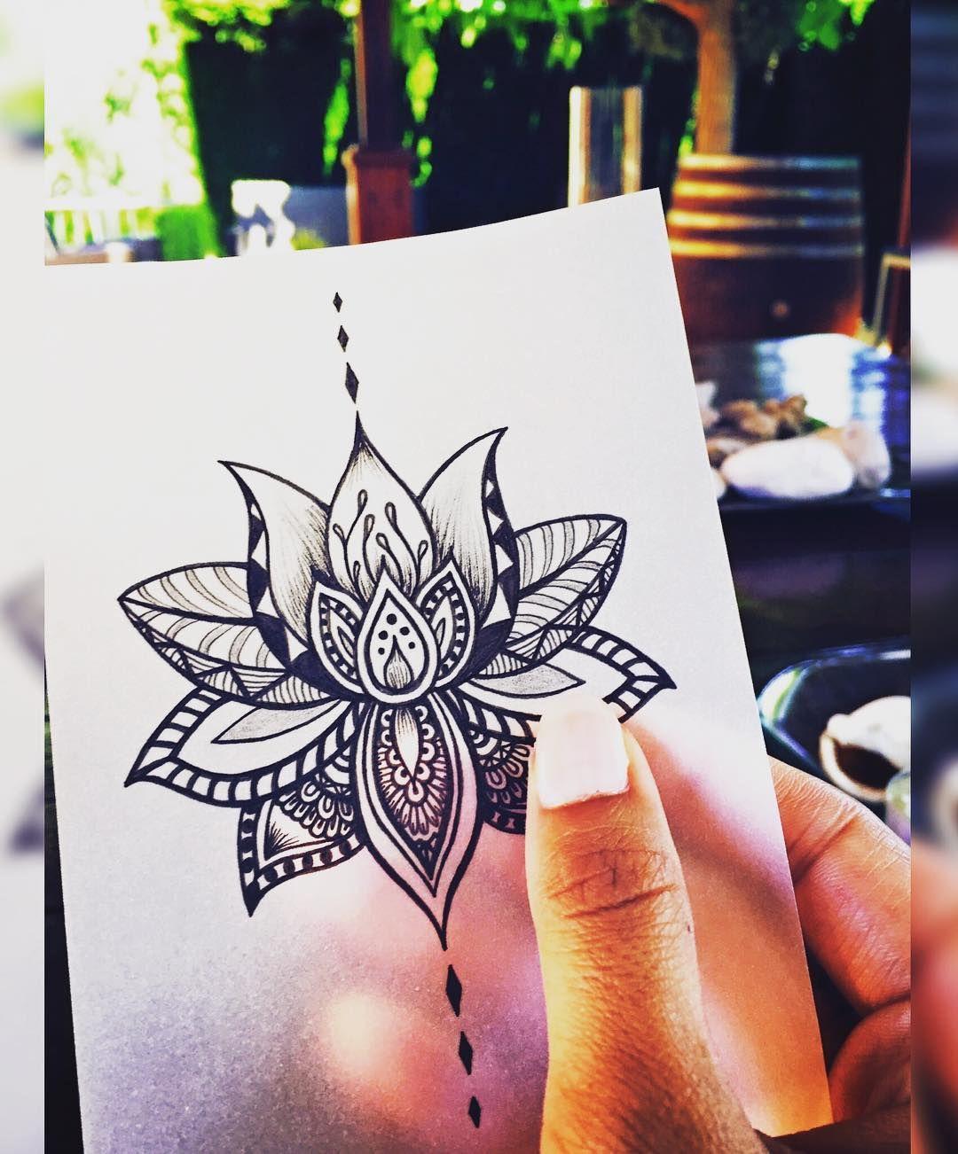 "𝑯𝒆𝒍𝒆𝒏𝒂 𝑳𝒍𝒐𝒓𝒆𝒕 𝑨𝒓𝒕 𝑻𝒂𝒕𝒕𝒐𝒐𝒊𝒏𝒈 on Instagram: ""🌸• Lotus Flower •🌸 #mandala #mandalas #zentangle #zen #zenart #art #arte #artist #lotusflower #flower #flordeloto #lotusflowertattoo…"""