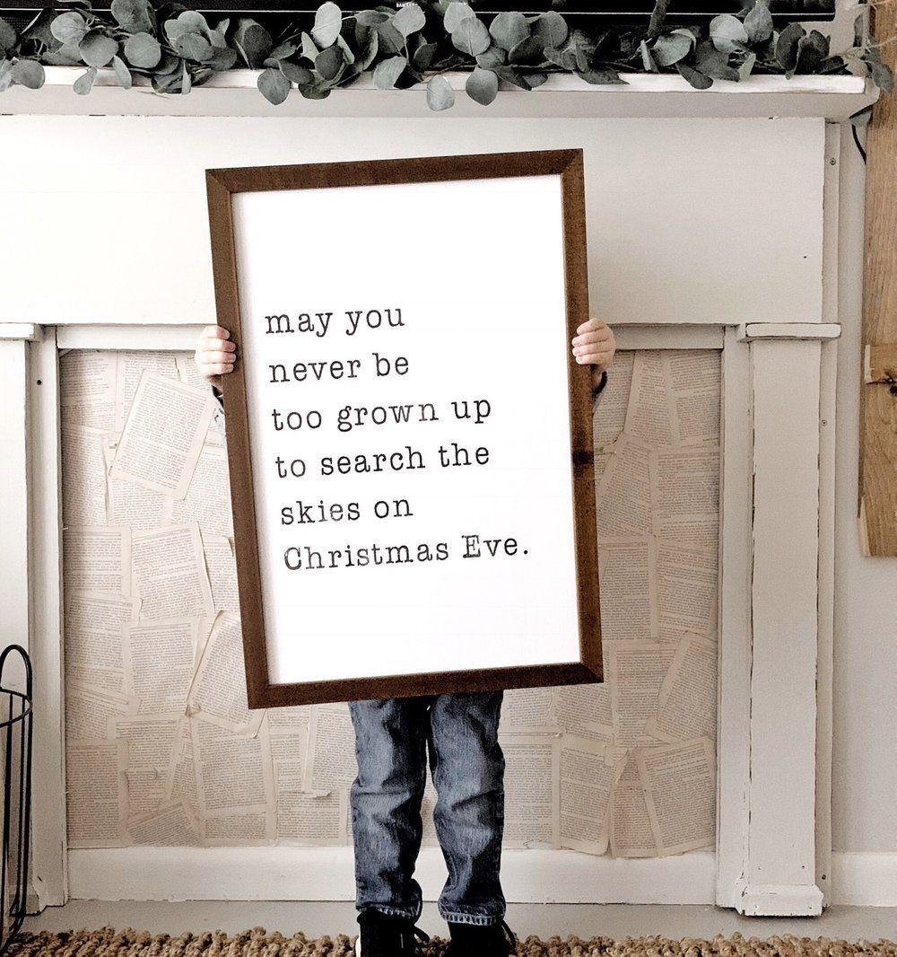 Christmas Eve Skies Holiday signs, Christmas eve