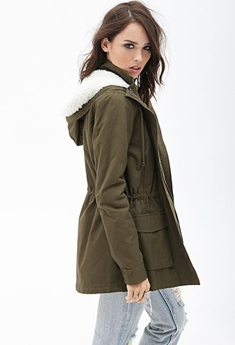 Faux Shearling Utility Jacket | FOREVER 21 - 2000084997