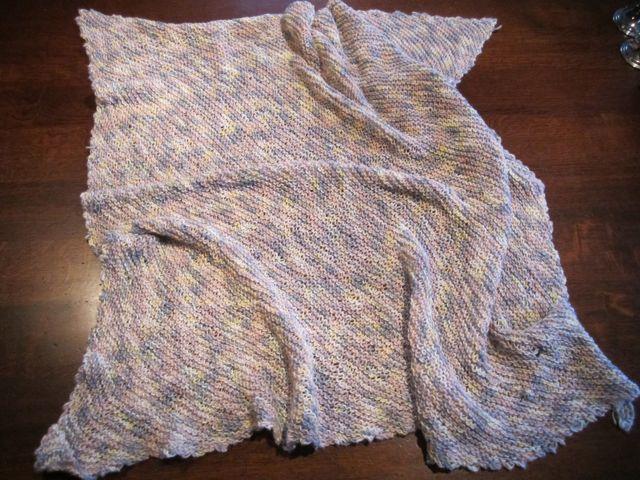 strikket babytæppe