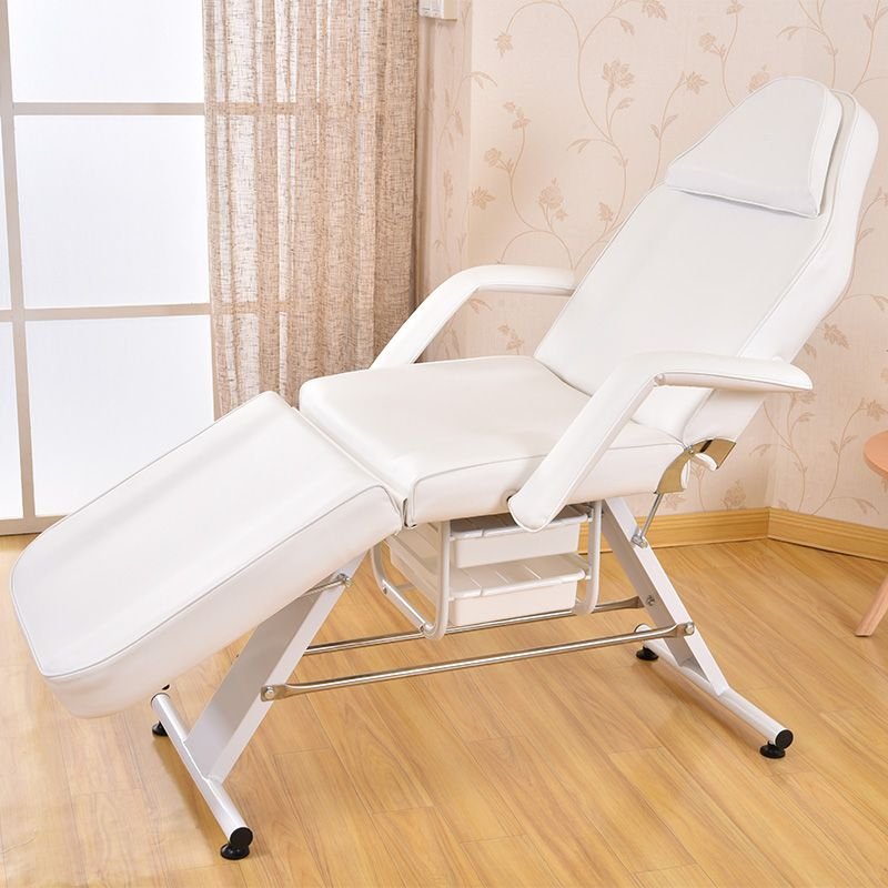 Massage Facial Table Bed Chair Beauty Spa Salon Equipment White Leather  Multi Purpose Salon Chair / Massage Table / Facial Bed