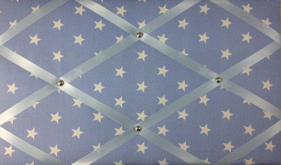 Pin BoardNotice Board Baby Blue With White Stars Message Memo