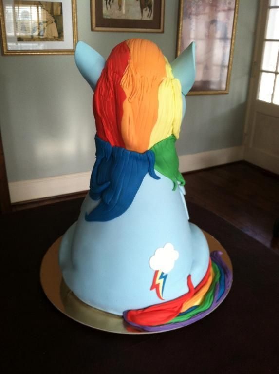 Rainbow Dash Cake Design : Cake Decorating: My Little Pony- Rainbow Dash! Zoey wanted ...