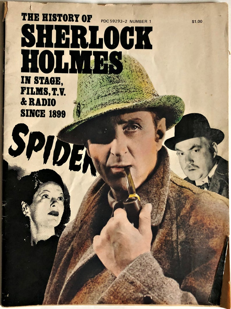 Sherlock Holmes 1975 Magazine Illustrated History in Stage, Films, TV and Radio since 1899