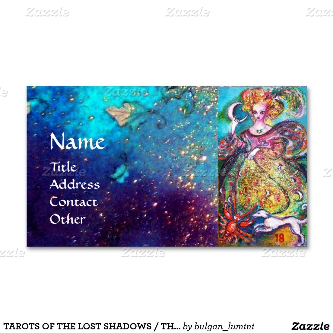 TAROTS OF THE LOST SHADOWS / THE MOON LADY Double-Sided STANDARD BUSINESS CARDS (Pack OF 100)