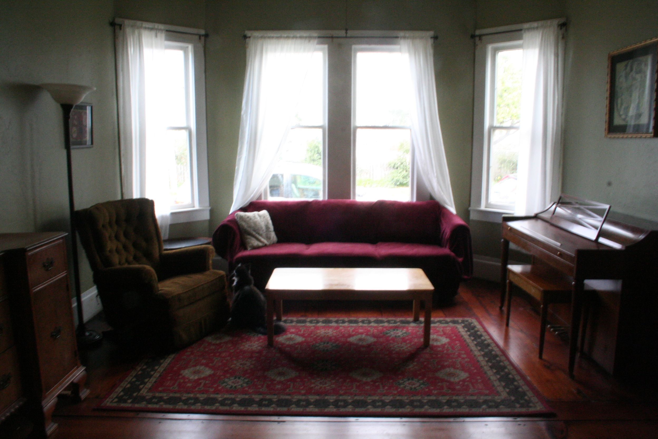 The Living Room (West) | Front windows, Green rooms and Living rooms