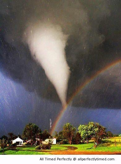 Tornado And Rainbow Amazing Nature Beautiful Nature Nature Photos