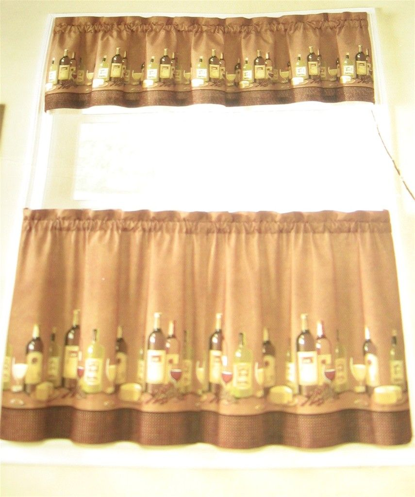 Tuscany Kitchen Curtains | ... Decor And More   Wines Tuscany 24L Tiers  Valance