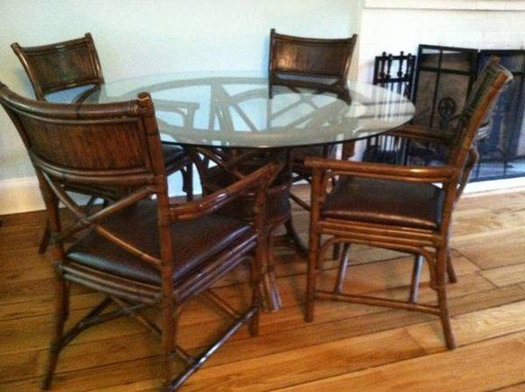 Pier 1 Dining Room Table - 5pc Bamboo/Glass Dining Set by Pier 1 ...