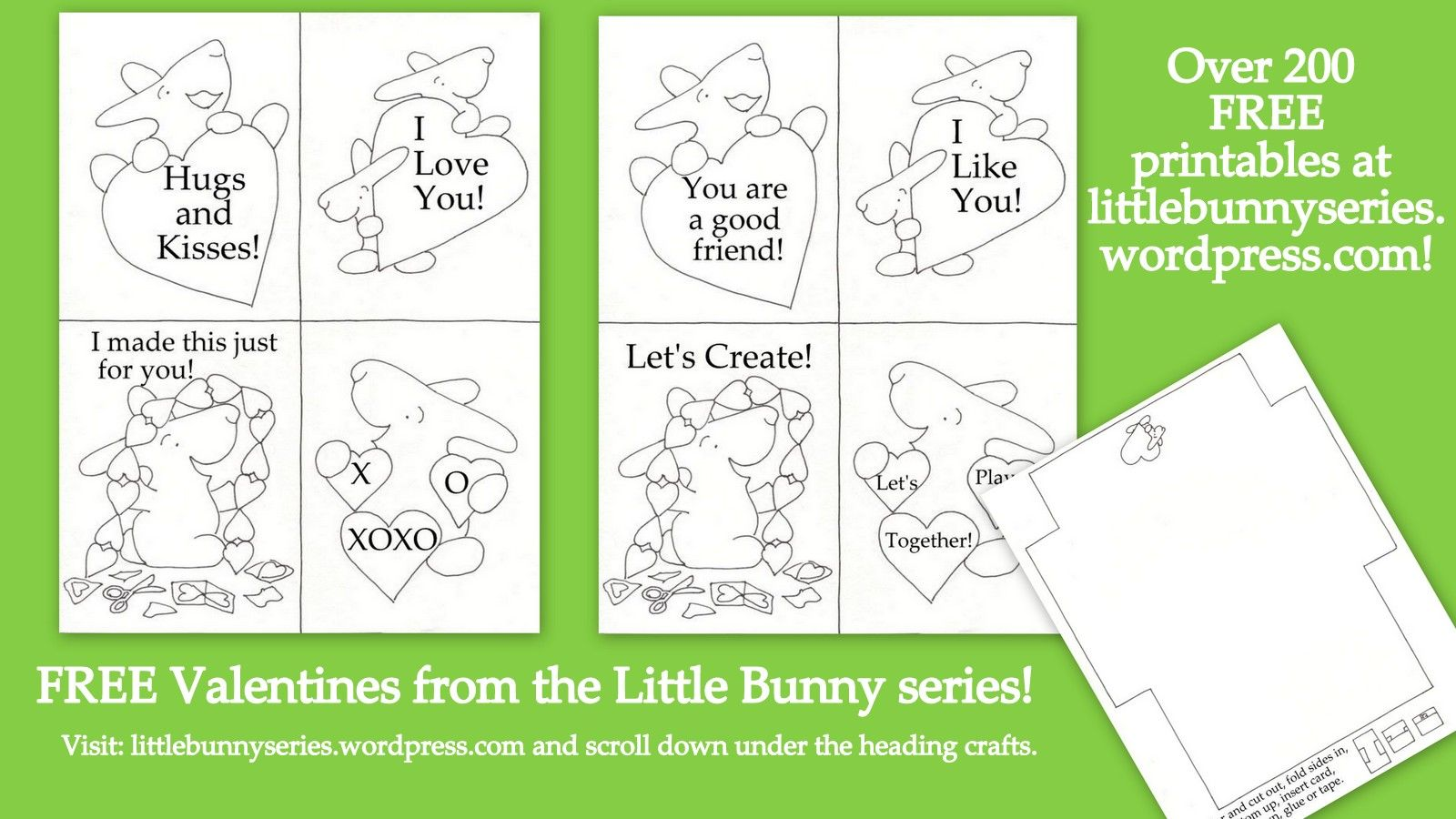Free Valentines At Littlebunnyseries Wordpress Just