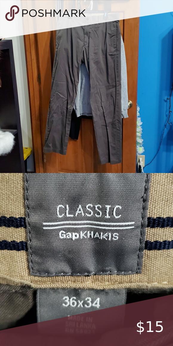 infierno Actuación moral  Gap Khakis Size 36 x 34 | Khaki, Khaki chinos, Polo ralph lauren